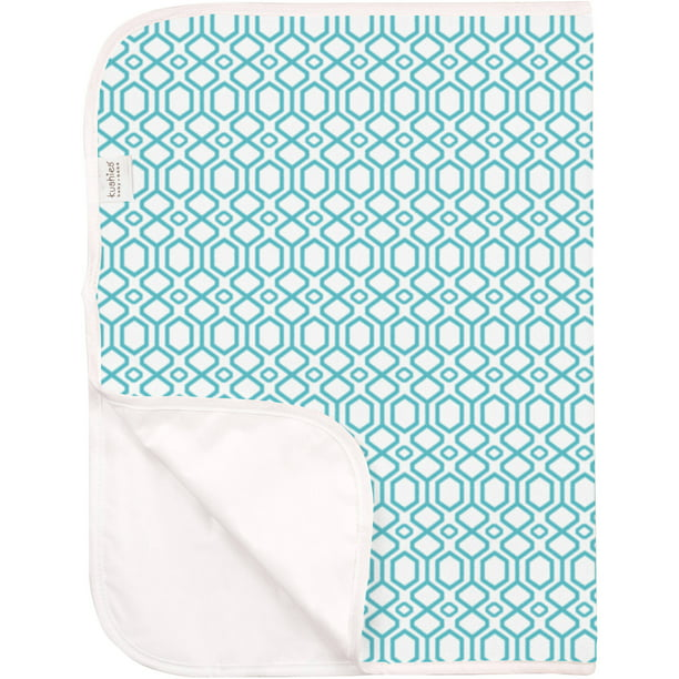 Portable Change Pad Terry, Turquoise Octagon