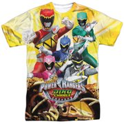 Power Rangers - Charged For Battle (Front/Back Print) - Short Sleeve Shirt - Large