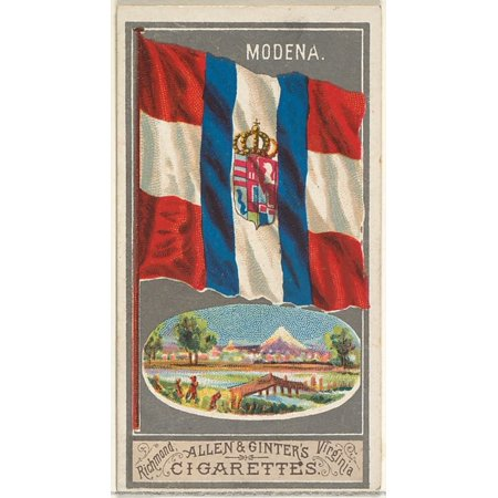 Modena from the City Flags series (N6) for Allen & Ginter Cigarettes Brands Poster Print (18 x (Modena37fp Modena Series)