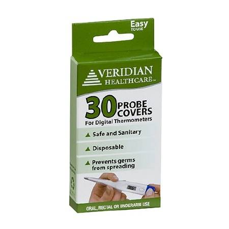 Veridian Healthcare Professional Digital Thermometer Probe Covers, Box of 100100.0 ea. (pack of 6)