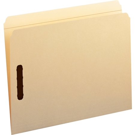 Smead Fastener File Folder, 2 Fasteners, Reinforced Straight-Cut Tab, Letter Size, Manila, 50 each per Box (14513)