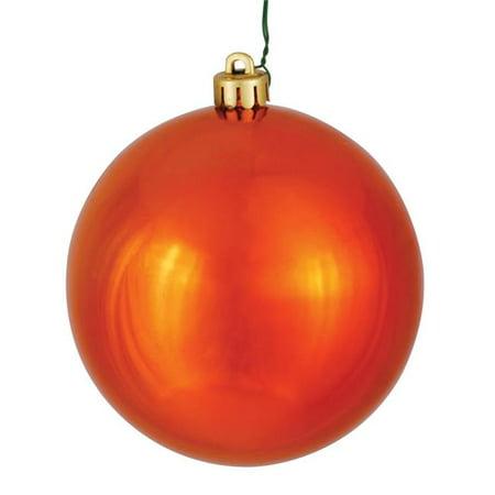 Vickerman N596818S 3 in. Burnish Orange Shiny Ornament Ball - 32 per Box - image 1 de 1