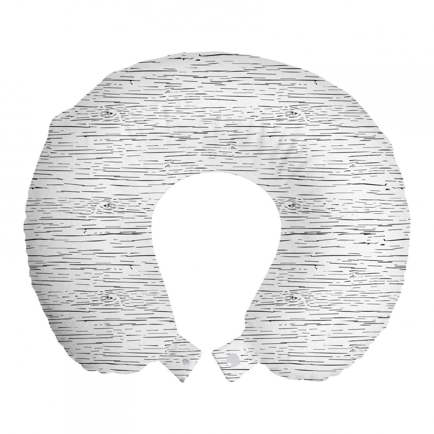 Abstract Travel Pillow Neck Rest, Monochrome