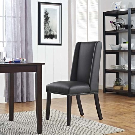 Hawthorne Collection Faux Leather Upholstered Dining Side Chair in Black - image 3 of 4