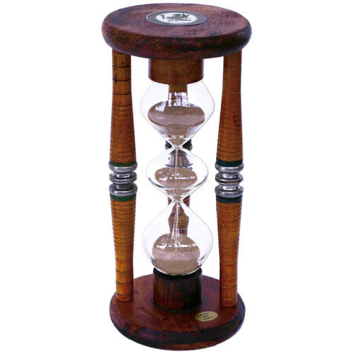 River City Clocks Three Tier 5 Minute Sand Timer Hourglass