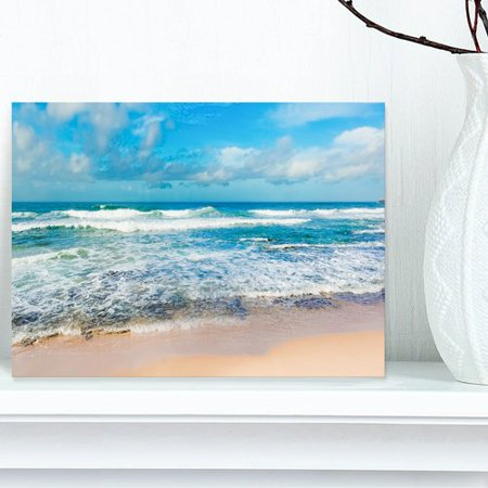 - Design Art Indian Ocean Panoramic View Photographic Print on Wrapped Canvas