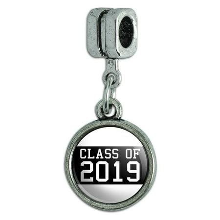 Class of 2019 Graduation Italian European Style Bracelet Charm Bead