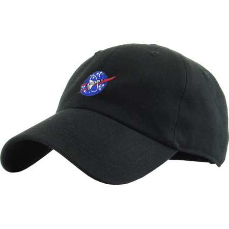 52060a53c3d Spaceship Black Dad Hat Baseball Cap Polo Style Adjustable NASA Galaxy  Alien UFO Face ET E.T. Saucer Rocket Planets Earth Mars Moon - Walmart.com