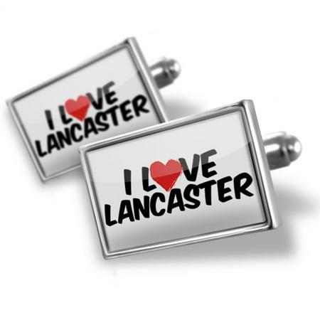 Lancaster Cufflinks - Cufflinks I Love Lancaster - NEONBLOND