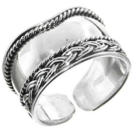 Bali Handmade Filigree 925 Sterling Silver Adjustable Toe Ring