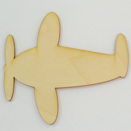 Airplane Wood Cutout 4 inch x 3.75 inch / Package of 10