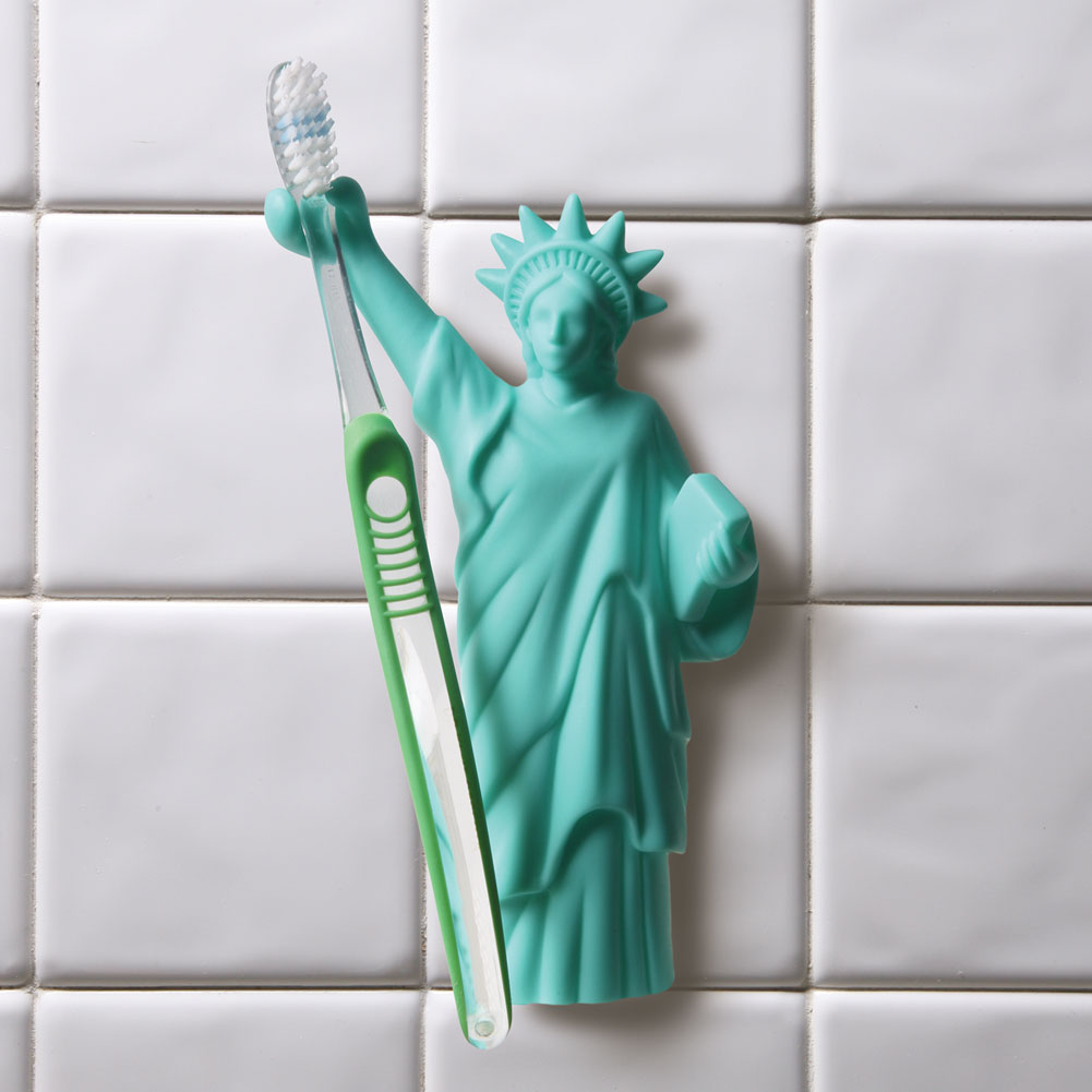 Statue Of Liberty Suction Cup Toothbrush Holder