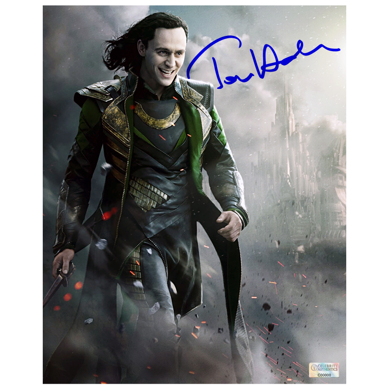 Tom Hiddleston Autographed Loki 8?10 Thor: The Dark World Photo