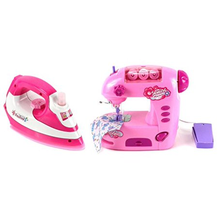 VT Magical Family Pretend Play Toy Sewing Machine & Clothing Iron Deluxe Combo Set