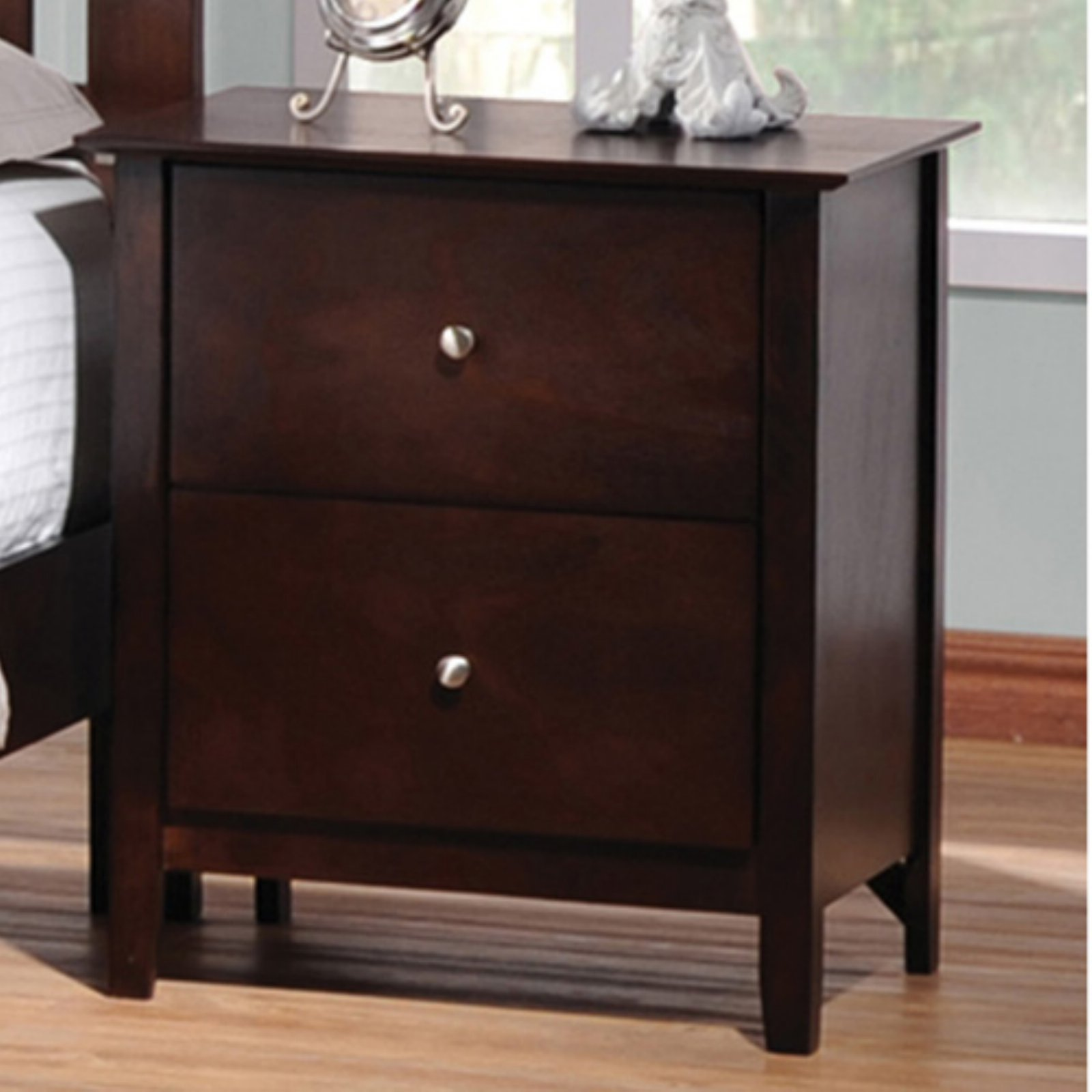 Coaster Furniture Tia 2 Drawer Nightstand by Coaster Company