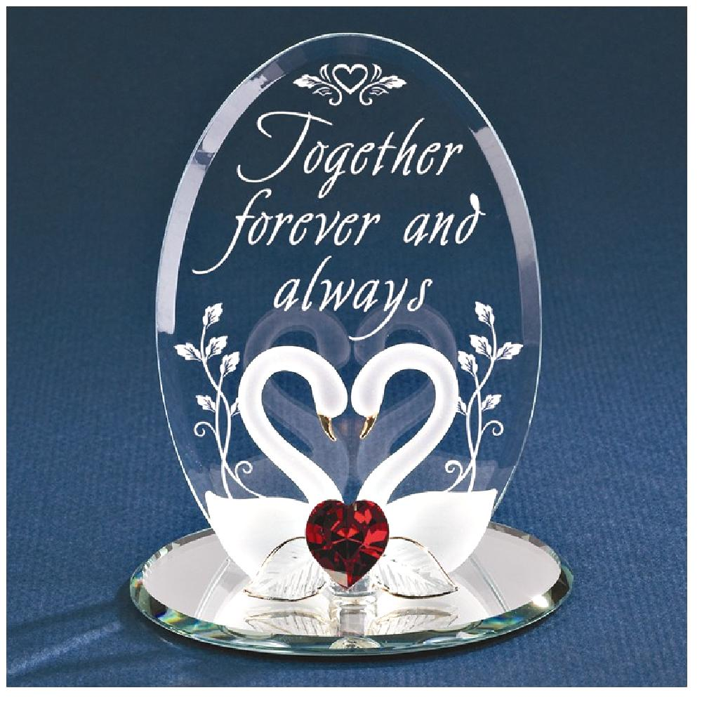 ICE CARATS Swans Together Forever Glass Figurine Glas Baron Love Fashion Jewelry Ideal Gifts For Women Gift Set From Heart