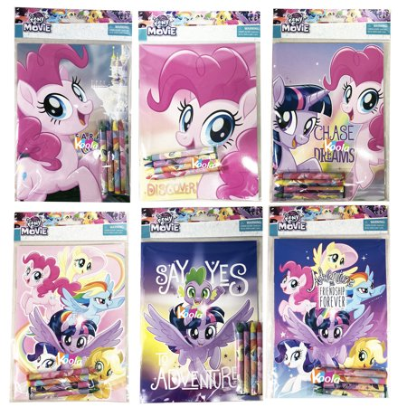 6pcs My Little Pony Coloring Book with Crayon Party Favors Activity Book ()