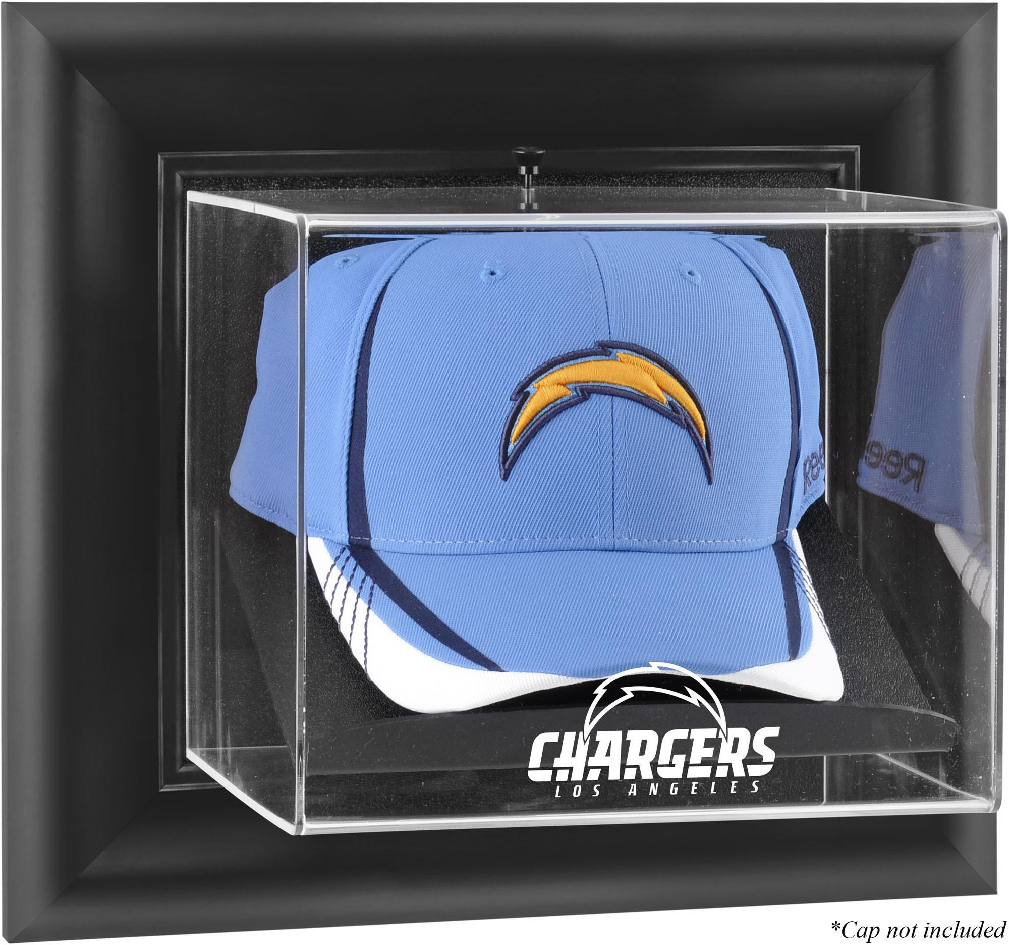 Los Angeles Chargers Black Framed Wall-Mountable Cap Logo Display Case