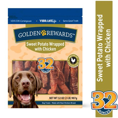 Golden Rewards Sweet Potato Wrapped with Chicken Dog Treats, 32 oz ()