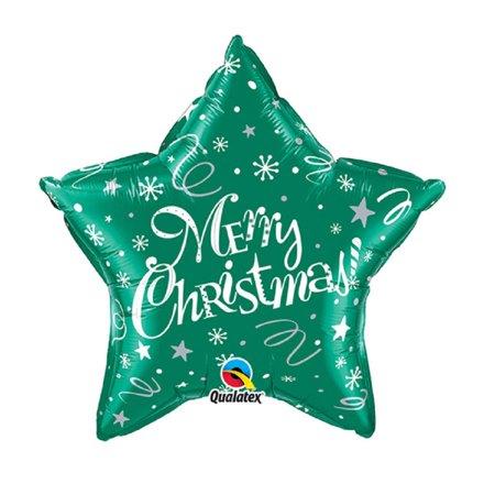 Qualatex Star-shaped Christmas Foil Balloon - image 1 of 1