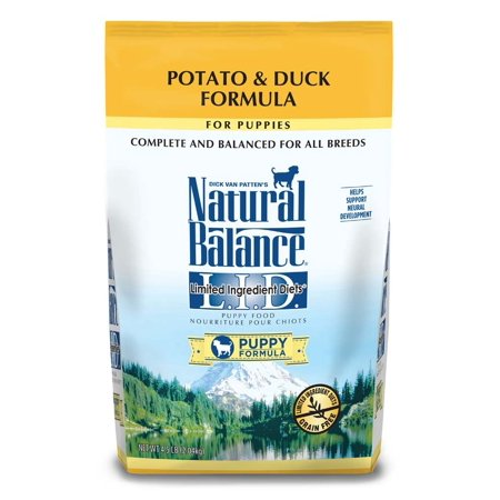 Potato Dry Food Formula - Natural Balance LID Potato & Duck Puppy Formula Dry Dog Food 4.5 Lbs