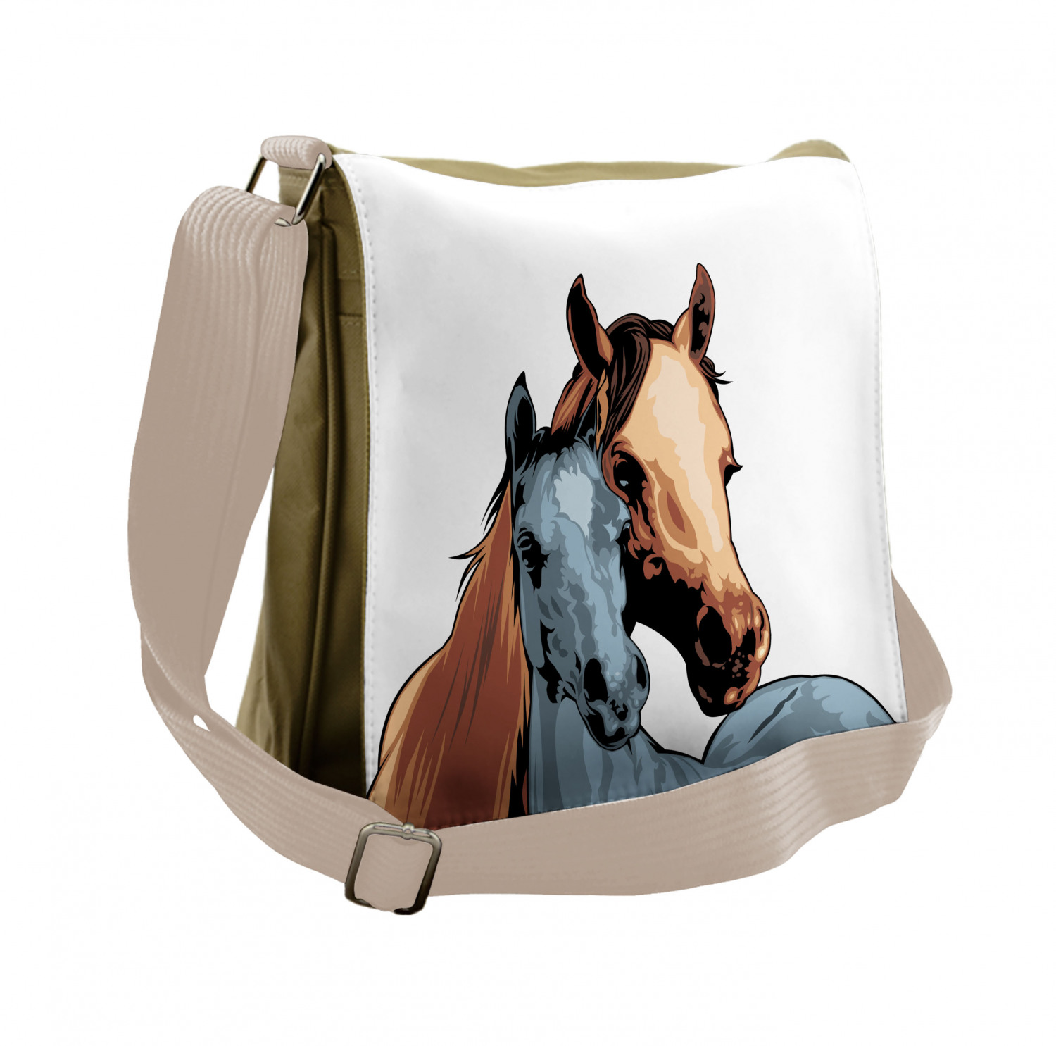 Large Weekender Carry-on Equine Themed Animals Ambesonne Horse Gym Bag