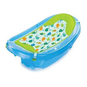 summer infant sparkle n 39 splash newborn to toddler bath tub blue walma. Black Bedroom Furniture Sets. Home Design Ideas