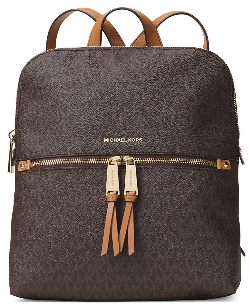 Women's Medium Rhea Signature Leather Backpack - Vanilla