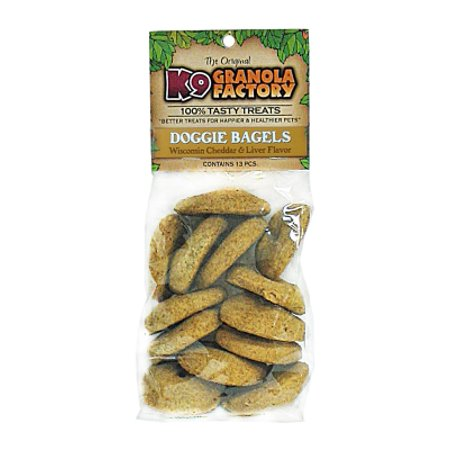 - K9 Granola Factory K9001223 Doggie Bagels Wisconsin Cheddar and Liver Dog Treat, 12 oz, 13 CT Bag