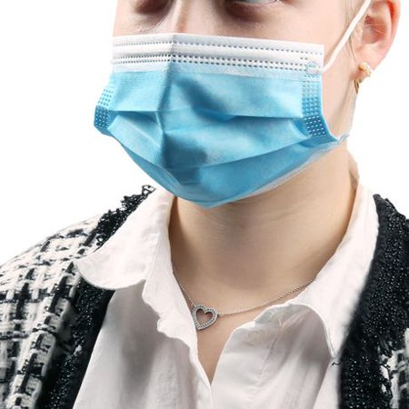 200pcs Disposable Face Mask Safety Mask Industrial Anti Dust for Personal Health 3Ply Ear Loop - image 5 de 10