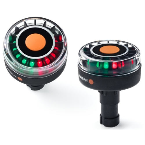 Navisafe 361, Navilight Tricolor LED 2 NM Navigation Light with Scotty Base, 5 Modes, Waterproof, Battery Operated