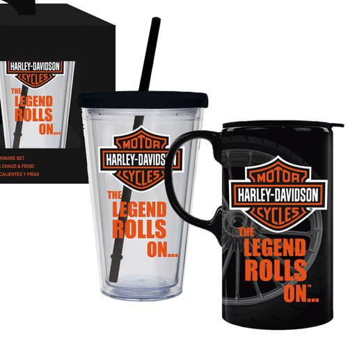 Evergreen Enterprises, Inc Harley-Davidson  2 Piece Assorted Glassware Set