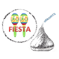 216 Fiesta Party Favor Hershey's Kisses Stickers / Labels