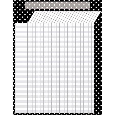 Black Polka Dots Incentive Chart - Incentive Chart