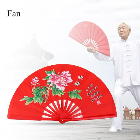 Ejoyous Tai Chi Martial Arts Kung Fu Bamboo Silk Fan Right Hand Wushu Dance Pratice (Best Martial Arts For Hand To Hand Combat)