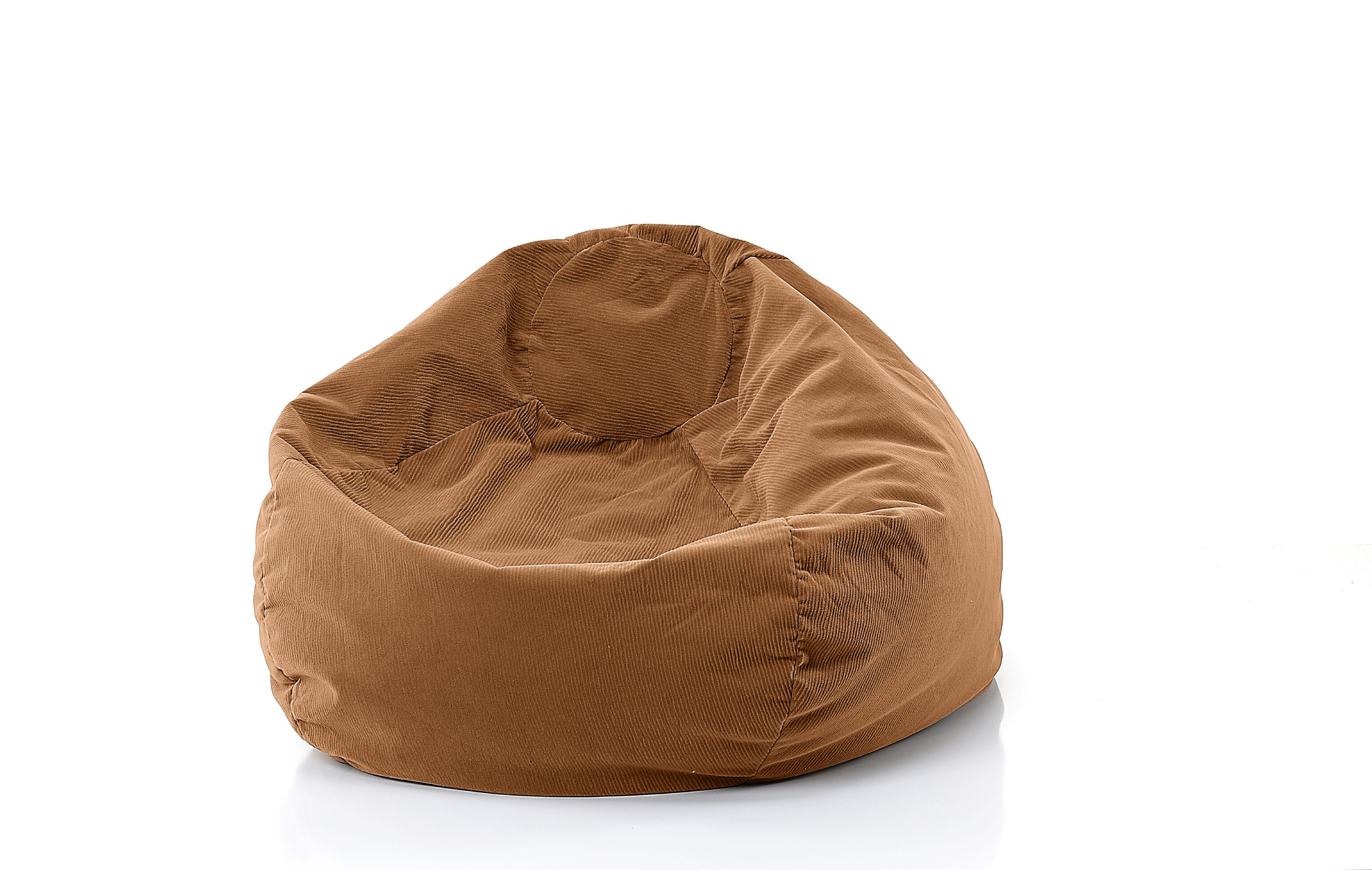 Gold Medal 30008459102 Fashion Small Corduroy Bean Bag Chair,Tan