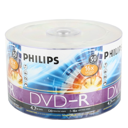600 Philips 16X DVD-R 4.7GB (Philips Logo on Top)