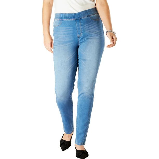 Roaman S Roaman S Women S Plus Size The No Gap Jegging Leggings Walmart Com Walmart Com