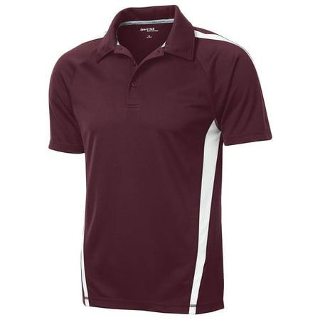 Colorblock Golf Polo - Sport-Tek Men's Micro-Mesh Colorblock Polo Shirt