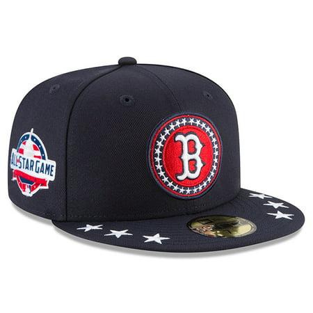 f8b45f97b5ecb0 Boston Red Sox New Era 2018 MLB All-Star Workout On-Field 59FIFTY Fitted Hat  - Navy - Walmart.com