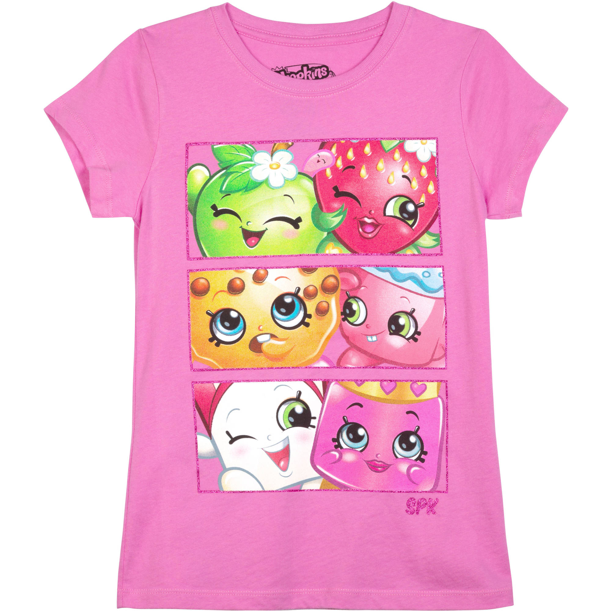 Shopkins Girls' Buddies Short Sleeve Crew Neck Graphic Tee