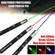 10000m 532nm Laser Pointer Pen High Power Lazer Visible Beam Light Green Purple