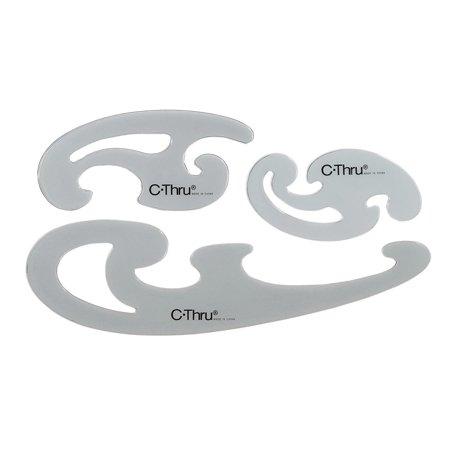 westcott french curve template white 3 pieces walmart com