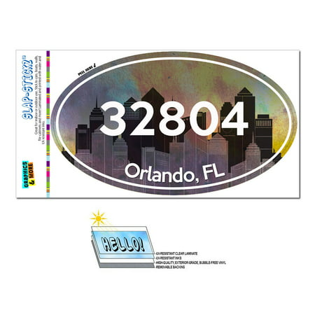 32804 Orlando, FL - City - Oval Zip Code Sticker