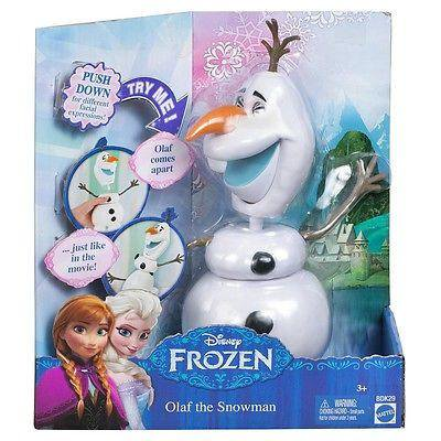disney frozen snowman olaf apart different facial expressions mattel new in box