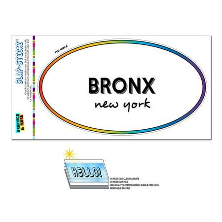 Bronx, NY - New York - Rainbow - City State - Oval Laminated Sticker](Party City Bronx)