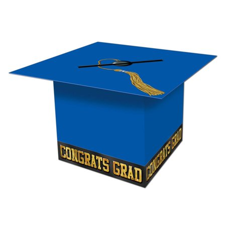 Pack of 6 Blue Graduation Cap