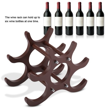 Wooden Six Pack Holder (WALFRONT  Wooden Red Wine Rack Red Wine Holder Shelf Stand 6 Bottles,Red Wine Rack, Red Wine)