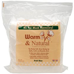 Warm & Natural Cotton Batting Full 90x96