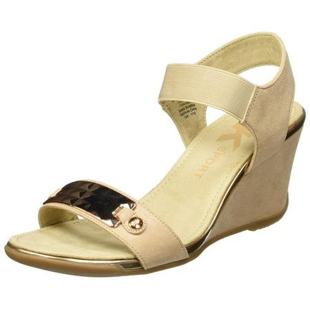 Anne Klein Womens Latasha Open Toe Casual Platform BLKBLK FB Size 110
